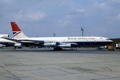 British Airways Cargo, old fleet - Boeing 707F freighter - via PJ de Jong