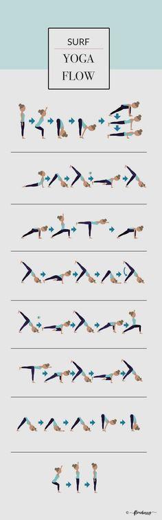 Surf Yoga Flow More from my site Yoga video Summerbody Vinyasa Yoga Flow Teil 2 Yoga Flow, Yoga Restaurativa, Vinyasa Yoga Poses, Namaste Yoga, Restorative Yoga, Ashtanga Yoga, Yoga Sequences, Pilates Yoga, Yoga Moves