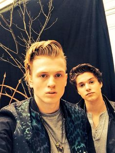 Tristan and Brad from the vamps