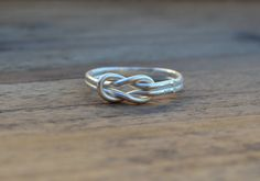sterling silver infinity ring bridesmaid jewelry knot by MyElesi, $30.00
