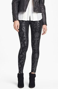 Hue Foil Brocade Leggings Pewter Small Review Buy Now
