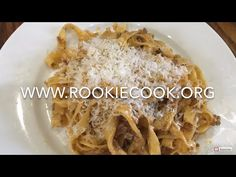 Traditional Tagliatelle Bolognese - Rookie Cook