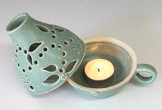 Pottery Candle Holder Handmade Ceramic Lamp Ceramic door InsCeramics