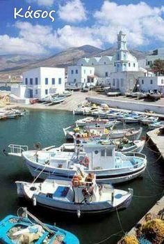 Greece Travel Inspiration - Port of Kassos island, Greece. Places Around The World, Travel Around The World, Around The Worlds, Paros, Places To Travel, Places To See, Travel Destinations, Wonderful Places, Beautiful Places