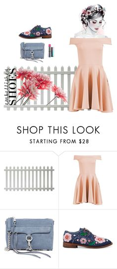 """The littel beauties"" by meme-style ❤ liked on Polyvore featuring Boohoo, Rebecca Minkoff, Anouki and embellishedshoes"