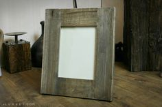 Rustic Wooden Picture Frame Perfect for every lovely family photo  www.luvvey.com