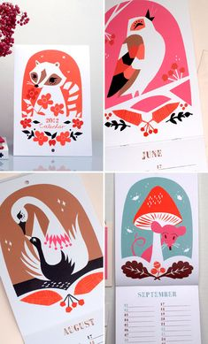 Darling Clementine's Illustrated 2012 Calendar