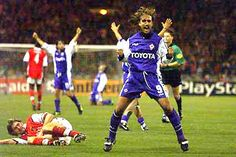 Batistuta 1999 Arsenal - Fiorentina, El Rey Leon!!