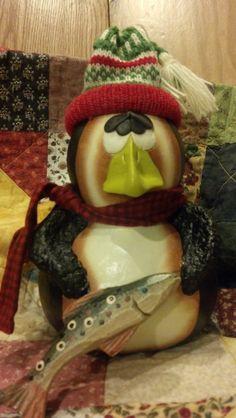 Primitive gourd penguin by gourdsrus on Etsy