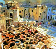Someday I WILL go to the dye vats of Fes, Morocco!