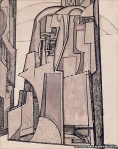 Jessica Dismorr, Landscape: Edinburgh Castle 1914-15