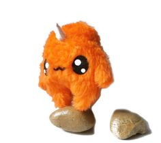 Fluse Kawaii Plush Monster Unicorn Orange von Fluse123 auf Etsy, €22.00