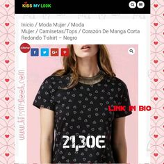 """Camiseta ideal"" #superoferta #notelopuedesperder #enlaweb www.kissmylook.com #bloggers #models #instagramers #kissmylook #tw feliz tarde kissess  LINK IN BIO"