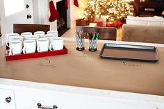 memorable party favor.. white porcelain mugs set out with sharpies.. guest decorate, sign name on bottom.. hosts bakes 20 min at 350º to set.. cool and take home