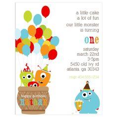 Juego de invitación cumpleaños monstruo de 10 por InkspotWorkshop
