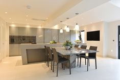 Diane Berry of Diane Berry Kitchens shares advice on how to design a perfectly toned grey kitchen through this stunning real home Gray Interior, Interior Design Kitchen, Kitchen Designs, Black Ovens, Dining Area, Dining Table, Best Appliances, Grey Kitchens, Soft Furnishings