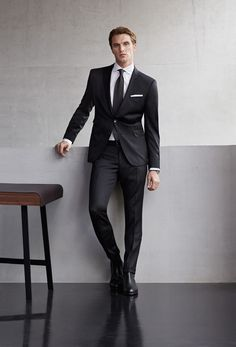 windsor. men spring/summer 15  #windsor #men #black #suit #blacktie #black #tie