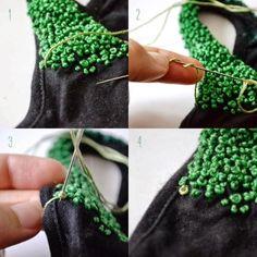 DIY: personalizar una prenda con un bordado fácil bordado ruso o frances, uno de los dos es.