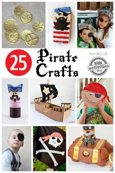 25 Pirate Crafts Kids Can Make 25 Pirate Crafts Kids Can Make Pirate crafts for kids to make! These are darling and so much fun for little pirate fans. The post 25 Pirate Crafts Kids Can Make appeared first on Craft for Boys. Pirate Kids, Pirate Day, Pirate Birthday, Pirate Theme, Pirates For Kids, Pirate Activities, Craft Activities For Kids, Elderly Activities, Dementia Activities