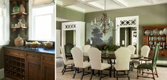 elegant dining room colour scheme and design, perfect for a country home by Westbrook Interiors | » Paces Ferry