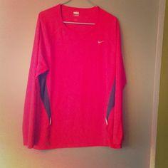 "Selling this ""XL Nike FITDRY workout top"" in my Poshmark closet! My username is: tinovia. #shopmycloset #poshmark #fashion #shopping #style #forsale #Nike #Tops"
