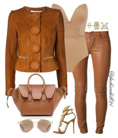"""""""Camel Color"""" by fashionkill21 ❤ liked on Polyvore featuring Current/Elliott, Givenchy, Giuseppe Zanotti, CÉLINE and Christian Dior"""