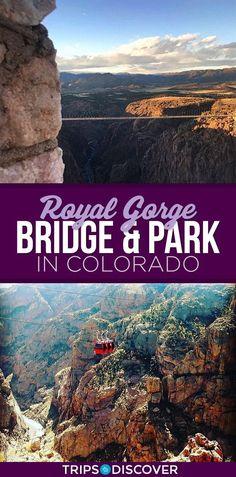 Walk Across America's Highest Suspension Bridge in Colorado Denver Colorado, Colorado Springs, Road Trip To Colorado, Visit Colorado, Colorado Hiking, Canon City Colorado, Colorado Vacations, Alberta Canada, Pikes Peak