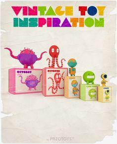 Vintage Toy Inspiration by Diana Pazo, via Behance