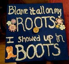 Country graduation cap decoration idea