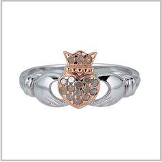 Diamond+Claddagh+Pink+Heart+Ring
