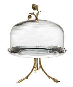 Godinger Leaf Cake Pedestal & Dome | Daily deals for moms, babies and kids