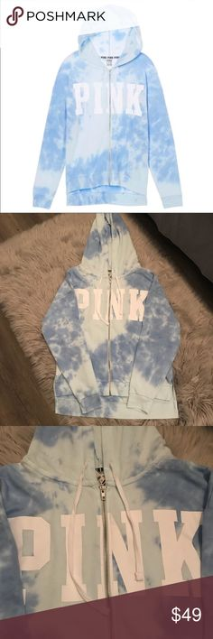 NWT Victoria's Secret PINK Tie Dye Blue Hoodie NWT Victoria's Secret PINK Tie Dye Blue Hoodie   Victoria's Secret PINK Cloud Tie Dye Blue Hoodie Zip Up  Super soft and comfy Size M Brand new with tags  POSH AMBASSADOR - HOST PICK SELLER & 5 STAR SELLER   Happy Poshing😊  **Other brands in my closet Brandy Melville, Victoria's Secret, Victoria's Secret Pink, Juicy Couture, True Religion PINK Victoria's Secret Tops Sweatshirts & Hoodies
