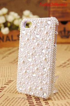 Bling Swarovisk  Case Handmade for Iphone 4 Case by ToBeDifferent, $15.99