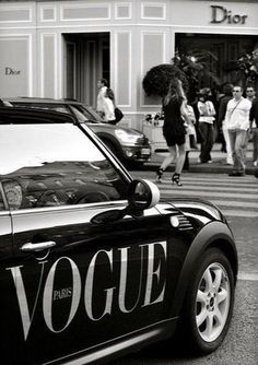 Dior Store on Avenue Montaigne. Oh yeah. And a Vogue Mini Cooper. Dior Store on Avenue Montaigne. Oh yeah. And a Vogue Mini Cooper. Gray Aesthetic, Black And White Aesthetic, Aesthetic Collage, Aesthetic Vintage, Aesthetic Photo, Aesthetic Pictures, Aesthetic Girl, White Style, Black And White Picture Wall