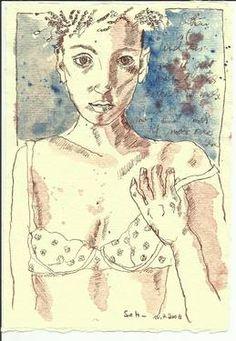 "Saatchi Art Artist Susanne Haun; Drawing, ""Drawing Diary 2008 10 07"" #art"
