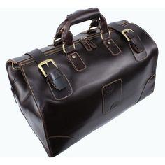 Vintage Leather Travel Bag / Tote / Luggage / Duffle Bag