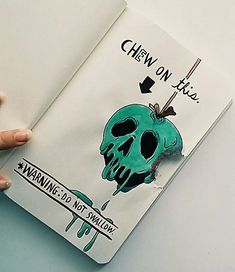 Started a Wreck this journal... Did this Disney poison apple themed page ! instagram @katie_art_123 #Startingascrapbook