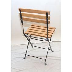 Haste Garden Nico Wood Folding Chair | Wayfair Best Folding Chairs, Wood Folding Chair, Outdoor Chairs, Outdoor Furniture, Outdoor Decor, Black Metal Chairs, School Furniture, Craft Storage, Framing Materials