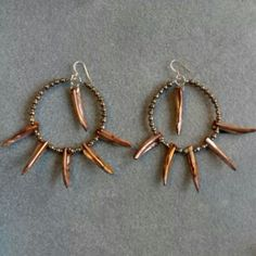 """I just added this to my closet on Poshmark: Brown Shell earrings. Price: $15 Size: 3.5"""""""