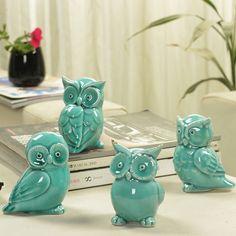 Artesanato de cerâmica, Mobiliário de casa moderna, Sala de estar, Ornamentos animais, Coruja artesanato, Brinquedo, Home decor, 4 estilo opcional ~(China (Mainland))