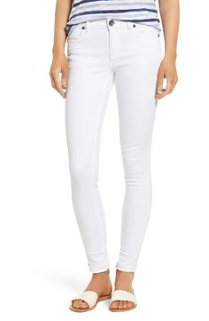 Free shipping and returns on KUT from the Kloth Mia Toothpick Skinny Jeans (Optic White) at Nordstrom.com. Stretch-cotton jeans in an optic white hue are a coolly casual neutral, allowing you to style these skinnies season after season, with a variety of tops.