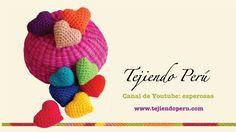 Corazón de San Valentín tejidos en crochet