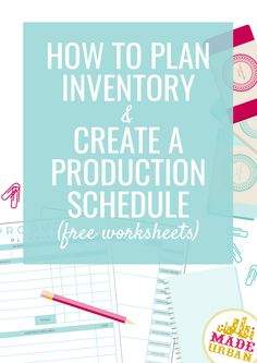 How to Plan Inventory A small handmade business requires a lot of work, and creating is just one por Etsy Business, Craft Business, Creative Business, Business Tips, Online Business, Business Marketing, Creating A Business, Starting A Business, Craft Booth Displays