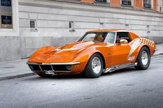 Orange 60s Corvette