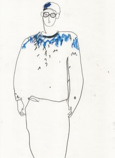 Illustration by Helen Bullock - Margaret Howell @ London Menswear A/W 2013 - SHOWstudio - The Home of Fashion Film