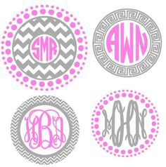 This Circle Monogram Frames cutting file is an instant DIGITAL DOWNLOAD file to be cut out with a Silhouette electronic cutting machine (.studio3 and
