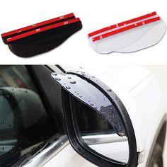 2Pcs/lot Universal Flexible PVC Rearview Mirror Rain Shade Rainproof Car Back Mirror Eyebrow High Quality 2 colors