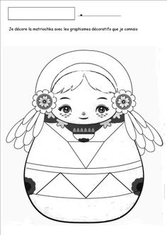 graphismes decoratifs sans modele Gourds, Coloring Pages, Dolls, School, Book, Christmas, Art, Matryoshka Doll, Russia