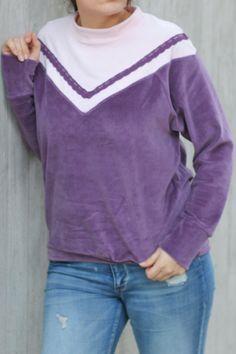 crearetro-retropulli-33 Raglan, Pullover, Sweaters, Fashion, Contrast Color, Fabric Remnants, Sewing Patterns, Moda, Fashion Styles