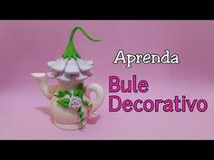 DIY - BULE DECORATIVO / ELISANGELA MOTTA - YouTube Home Decor Inspiration, Tea Pots, Diy Home Decor, Polymer Clay, Easy Diy, Christmas Ornaments, Holiday Decor, Tableware, Youtube